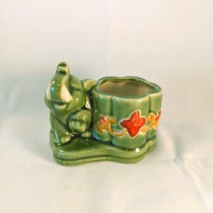 Other - Green Elephant Lucky Bamboo Planter